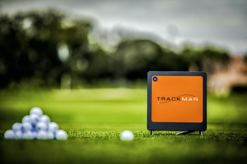 TrackMan radar on golf course